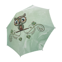 Cute little owl, diamonds Semi-Automatic Foldable Umbrella (Model U05)