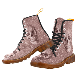Modern sparkling Skull  by JamColors Martin Boots For Women Model 1203H