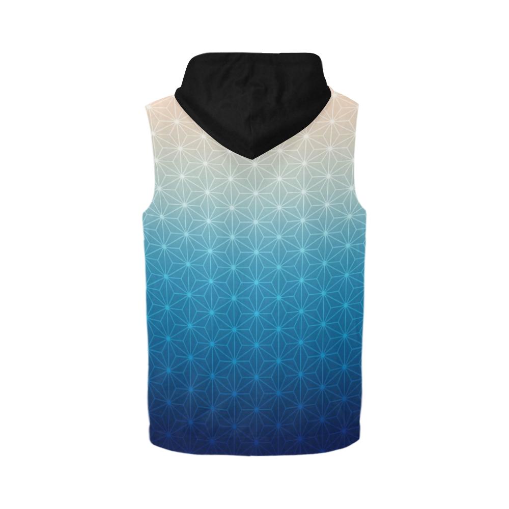 04 WINTER All Over Print Sleeveless Zip Up Hoodie for Men (Model H16)