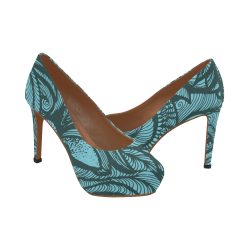 agua marina Women's High Heels (Model 044)