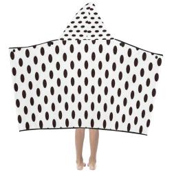 Black spots Kids' Hooded Bath Towels