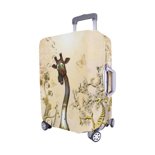 """Funny steampunk giraffe Luggage Cover/Medium 22""""-25"""""""