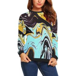 oil_d All Over Print Crewneck Sweatshirt for Women (Model H18)