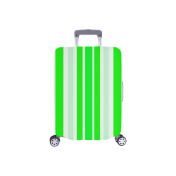 """Neon Green Stripes Luggage Cover/Small 18""""-21"""""""