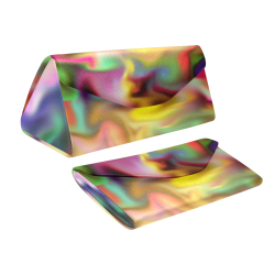 fascination fluid, multicolor Custom Foldable Glasses Case