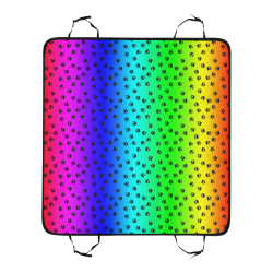 rainbow with black paws Pet Car Seat 55''x58''