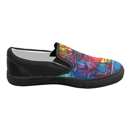 oil_i Women's Slip-on Canvas Shoes (Model 019)