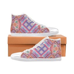 Researcher Women's High Top Canvas Shoes (Model 002)