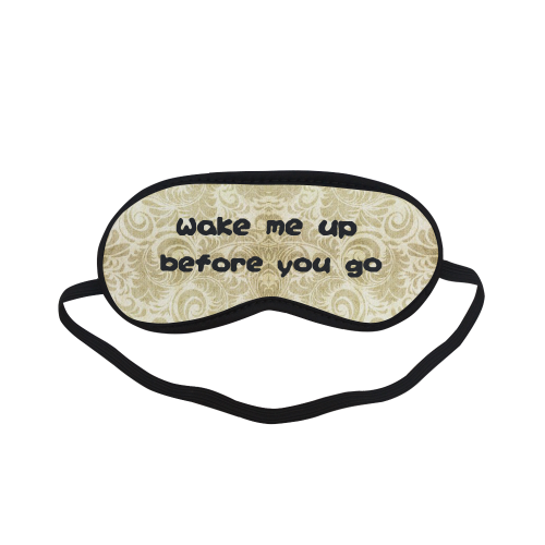 Wake me up before you go on Denim, vintage floral pattern, beige gold yellow Sleeping Mask