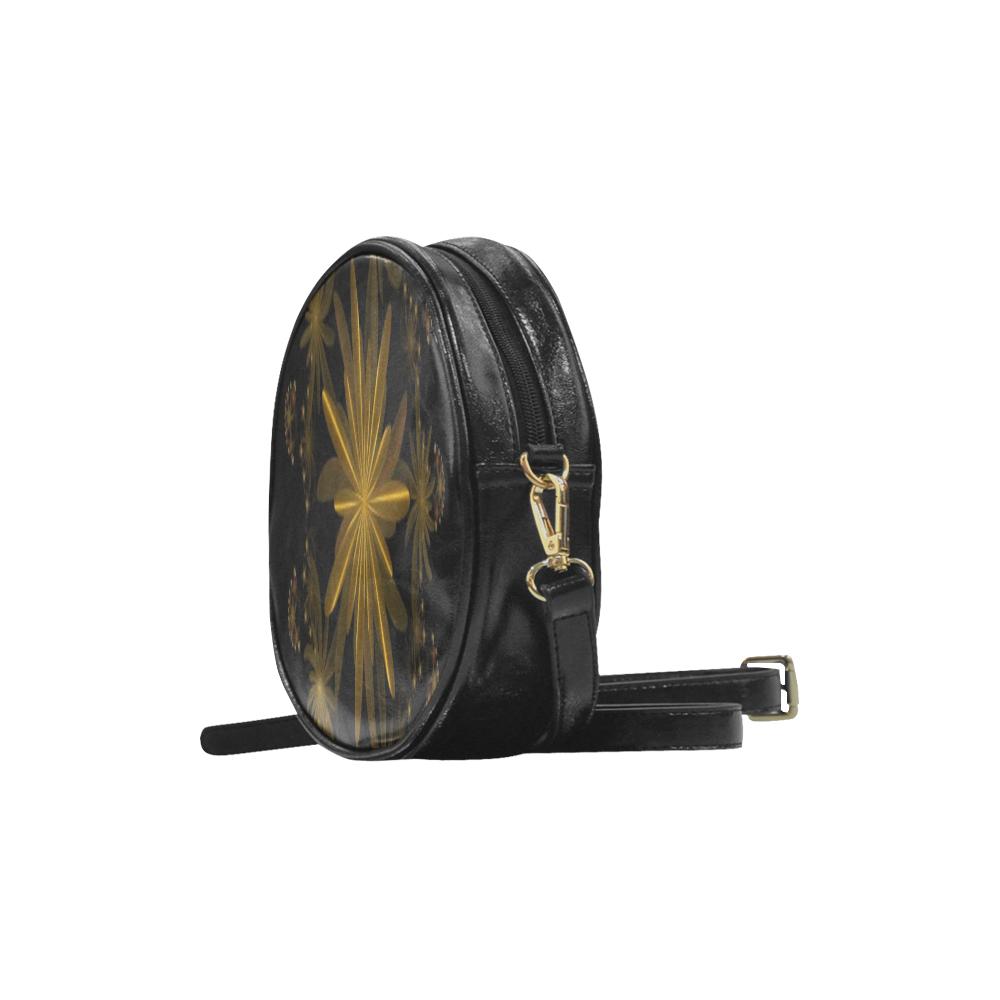 Fractal flash Round Sling Bag (Model 1647)