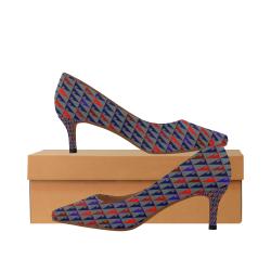 zappwaits w5 Women's Pointed Toe Low Heel Pumps (Model 053)