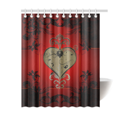 "Wonderful decorative heart Shower Curtain 60""x72"""