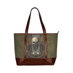 Awesome dark skull Tote Handbag (Model 1642)