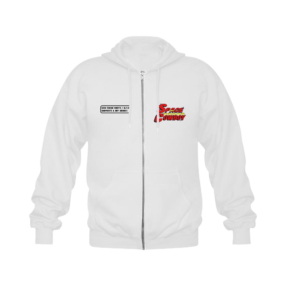 SPACE COWBOY Gildan Full Zip Hooded Sweatshirt (Model H02)