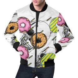 Doughnut time! All Over Print Bomber Jacket for Men (Model H19)