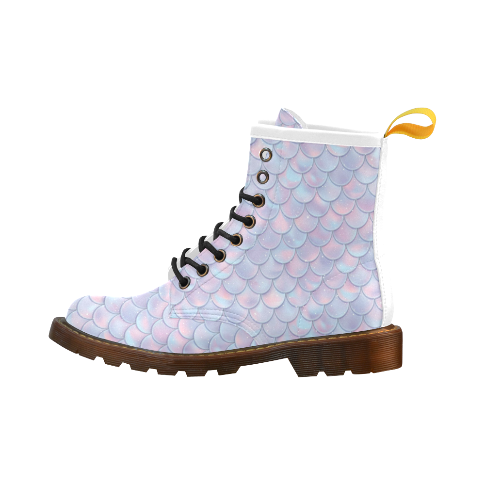 Mermaid Scales High Grade PU Leather Martin Boots For Men Model 402H