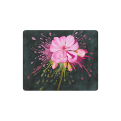 Pink flower, color splash, floral eruption Rectangle Mousepad