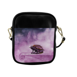 Wonderful violet dragon Sling Bag (Model 1627)