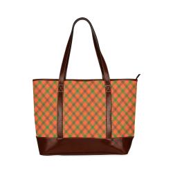 Tami plaid in orange, brown and green Tote Handbag (Model 1642)