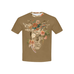 Awesome Autumn Sugarskull Kids' All Over Print T-shirt (USA Size) (Model T40)