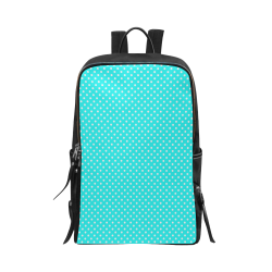 Baby blue polka dots Unisex Slim Backpack (Model 1664)