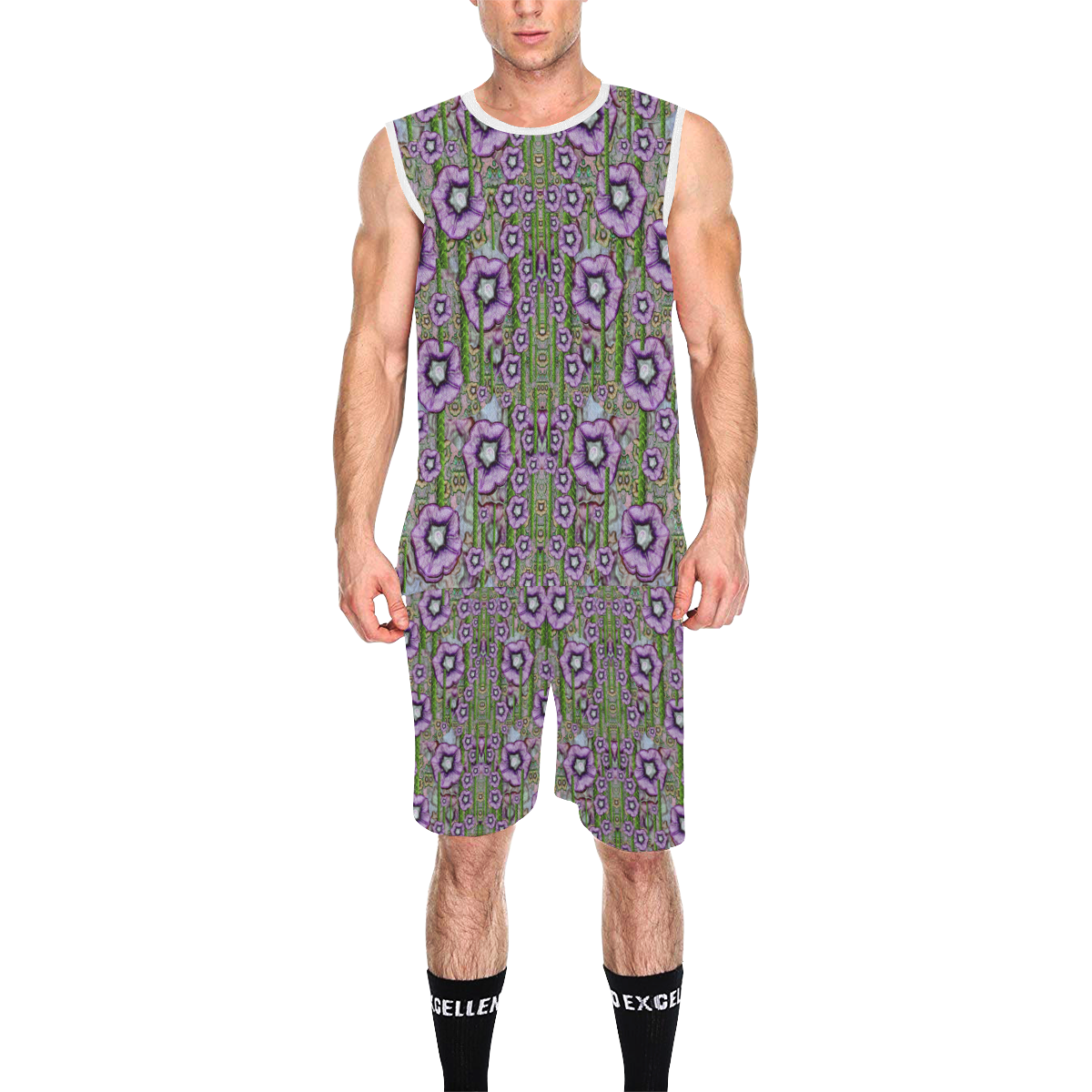 Jungle fantasy flowers climbing to be in freedom All Over Print Basketball Uniform