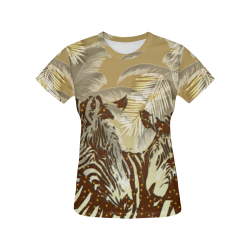 African night All Over Print T-Shirt for Women (USA Size) (Model T40)