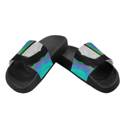 Original Abstract Painting Women's Slide Sandals (Model 057)