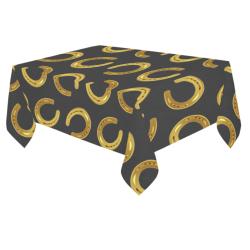 "Golden horseshoe Cotton Linen Tablecloth 60""x 84"""