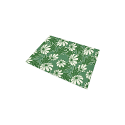 "Green daisy Area Rug 2'7""x 1'8''"