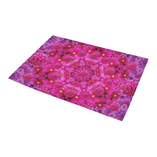 """flower suprise to love and enjoy Azalea Doormat 24"""" x 16"""" (Sponge Material)"""
