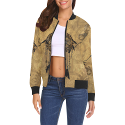 Steampunk Dreamcatcher All Over Print Bomber Jacket for Women (Model H19)