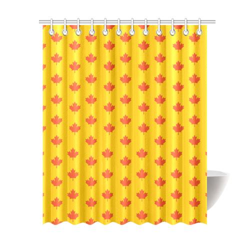 "Maple leaf Shower Curtain 69""x84"""