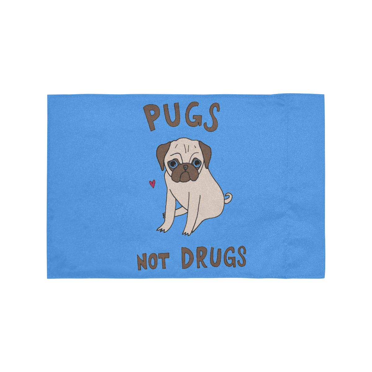 PUGS NOT DRUGS Motorcycle Flag (Twin Sides)