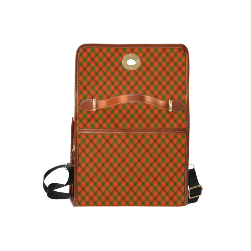 Tami plaid / orange, green and brown tartan Waterproof Canvas Bag/All Over Print (Model 1641)