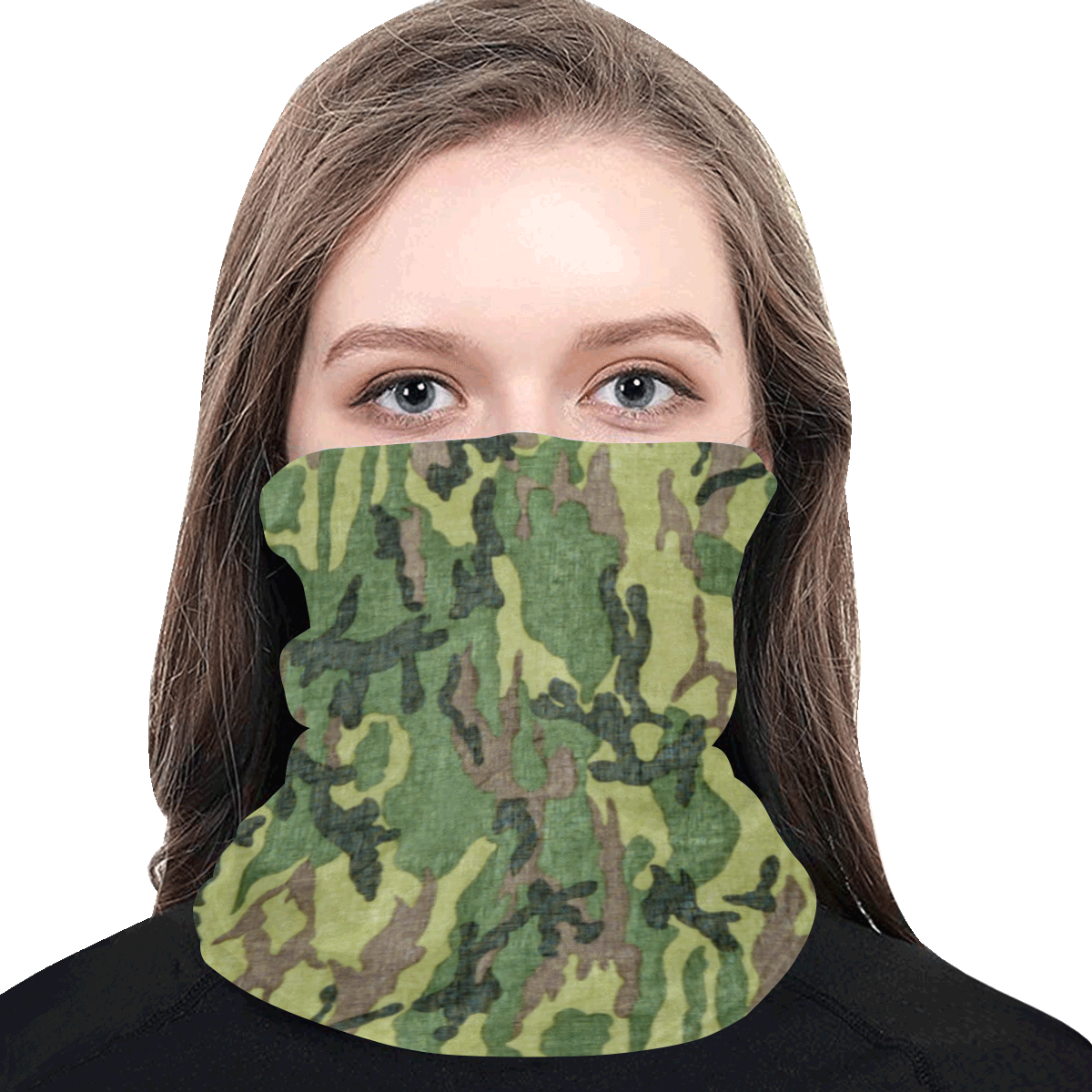 Military Camo Green Woodland Camouflage Multifunctional Dust-Proof Headwear