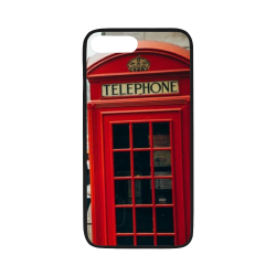 "phone booth cell case Rubber Case for iPhone 7 plus (5.5"")"