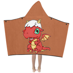 Baby Red Dragon Rust Kids' Hooded Bath Towels
