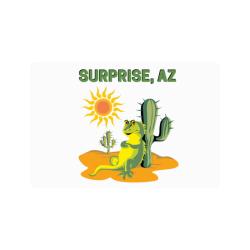 """Surprise, Arizona Doormat 24""""x16"""""""