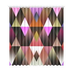 "Dark Mosaic Shine 1 Window Curtain 50""x108""(Two Piece)"