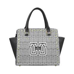 Leticia Tavizon Black Rivet Shoulder Handbag (Model 1645)