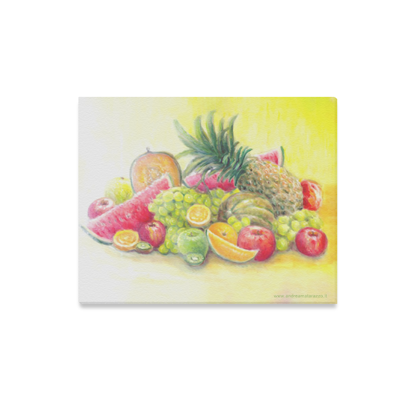 "Happy Fruits Canvas Print 20""x16"""
