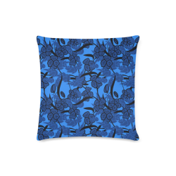 "Blue pansies Custom Zippered Pillow Case 16""x16"" (one side)"