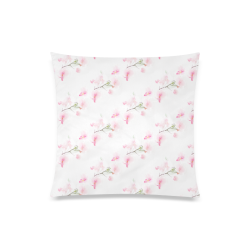 "Pattern Orchidées Custom Zippered Pillow Case 20""x20""(Twin Sides)"
