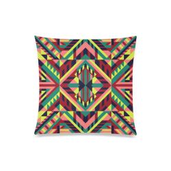 "Modern Geometric Pattern Custom Zippered Pillow Case 20""x20""(Twin Sides)"