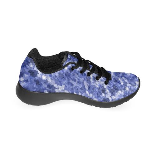 Modern blue camouflage Men's Running Shoes (Model 020)