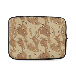 Vintage Desert Brown Camouflage Custom Laptop Sleeve 14''