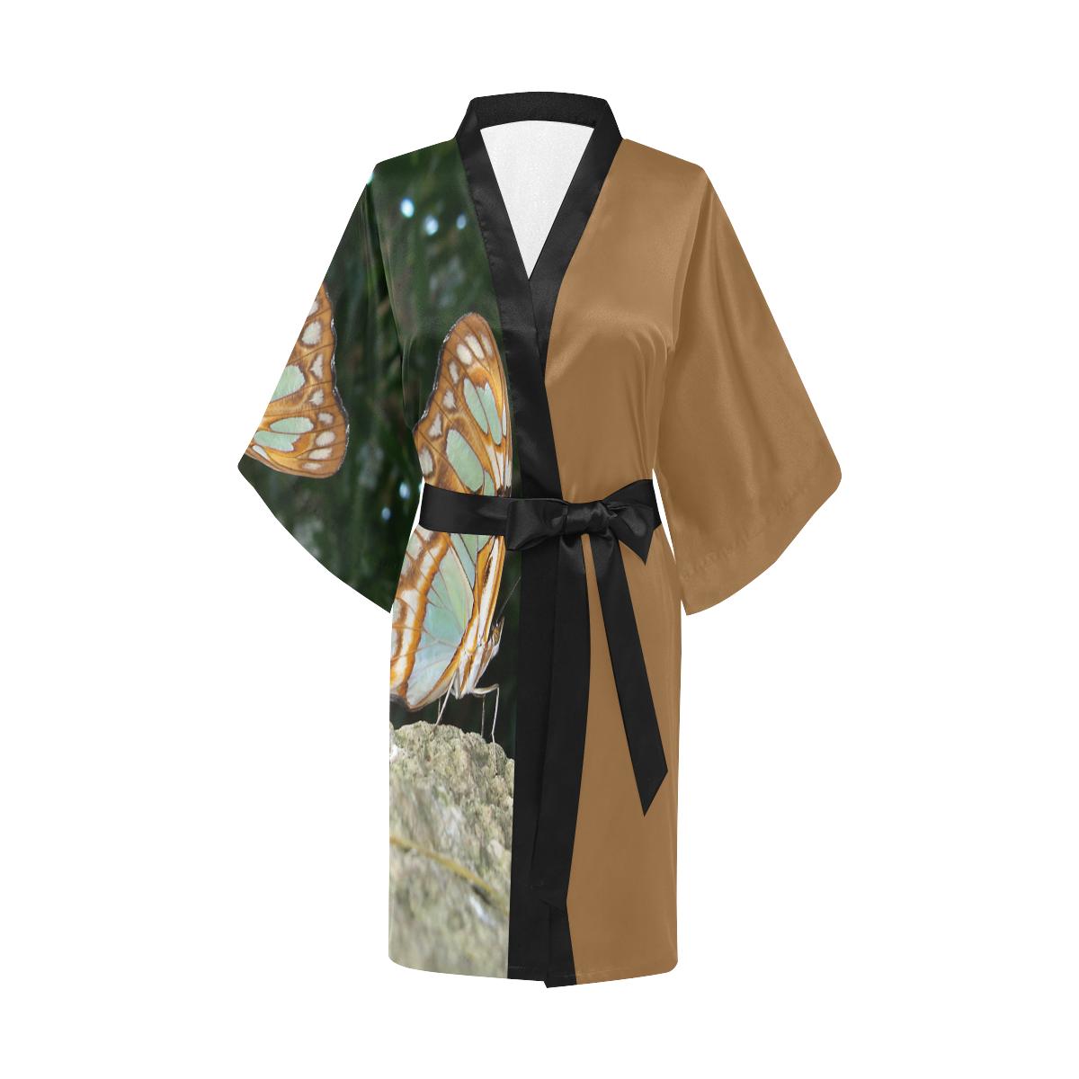 Tailed Jay Butterfly Kimono Robe