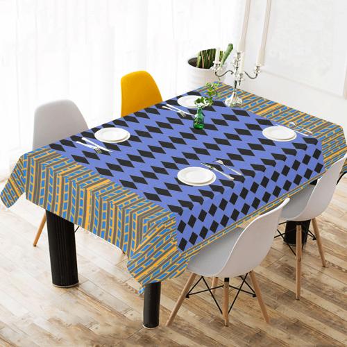 """Modern Mix Diamonds Stripes Runner* Cotton Linen Tablecloth 60""""x 104"""""""