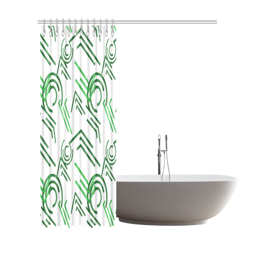"""fashion design in the style of constructivism Shower Curtain 72""""x84"""""""